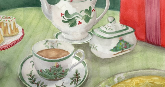 European Tea Room Illustration-2012
