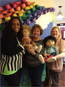 class room teachers with puppets