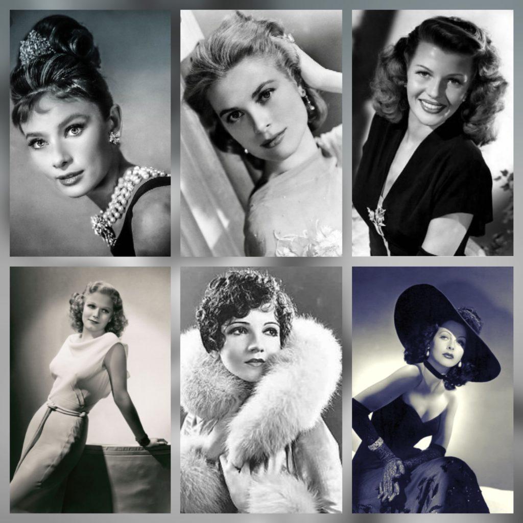 Hollywood glamour fashion icons