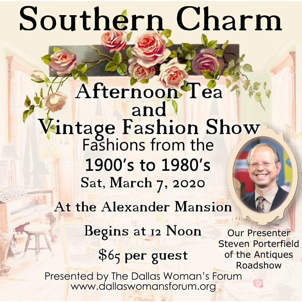 Southern Charm Tea Vintage Fashion Show