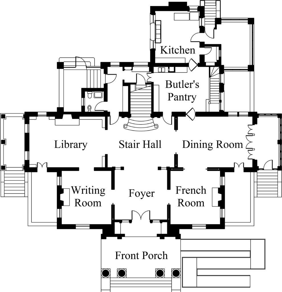 First Floor Plan Alexander Mansion