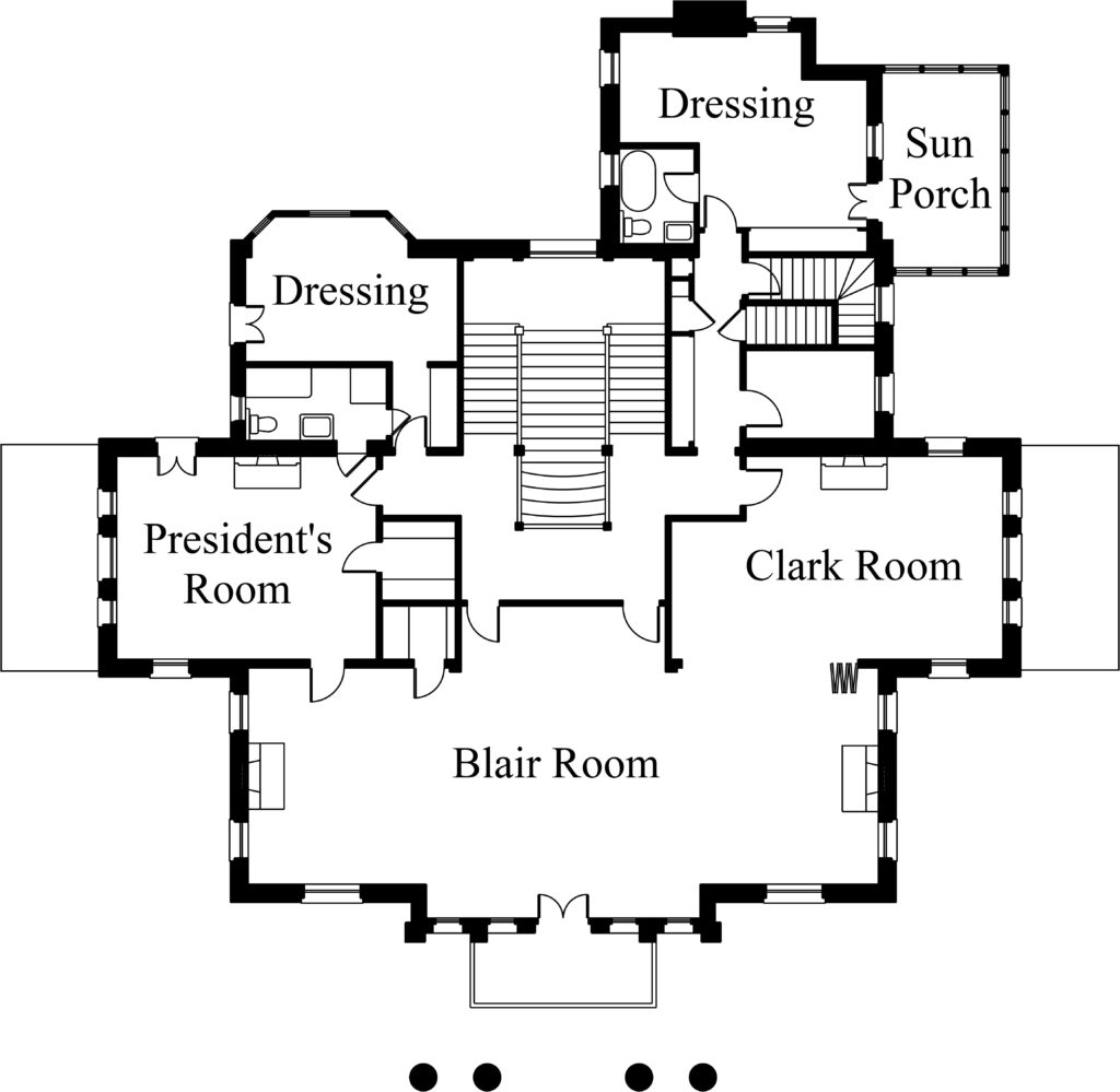 Second Floor Plan Alexander Mansion